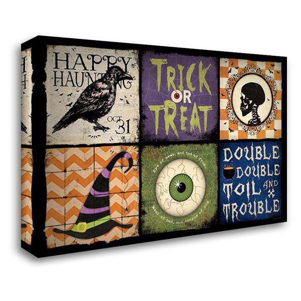 Halloween Patch 40x28 Gallery Wrapped Stretched Canvas Art by Marrott, Stephanie