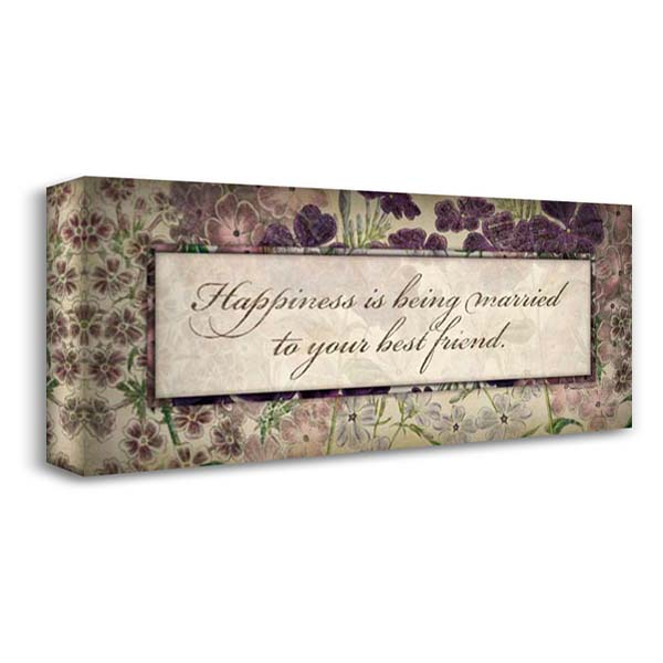 Happiness Is 40x19 Gallery Wrapped Stretched Canvas Art by Marrott, Stephanie