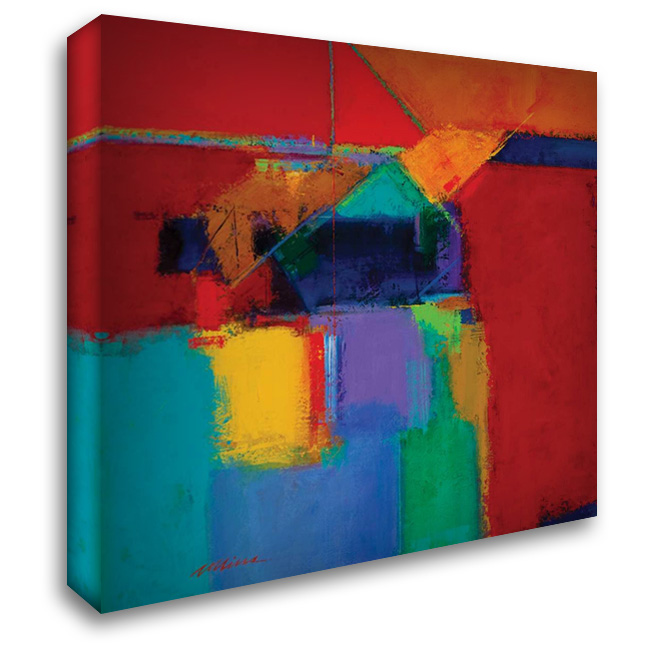 Happy Birthday 28x28 Gallery Wrapped Stretched Canvas Art by Collins, Gary Max