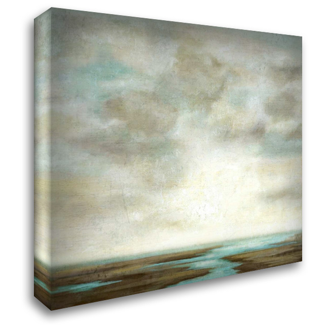 Distant Storm 28x28 Gallery Wrapped Stretched Canvas Art by Nicoll, Suzanne