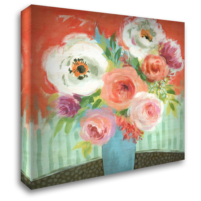 Happy 28x28 Gallery Wrapped Stretched Canvas Art by Nicoll, Suzanne