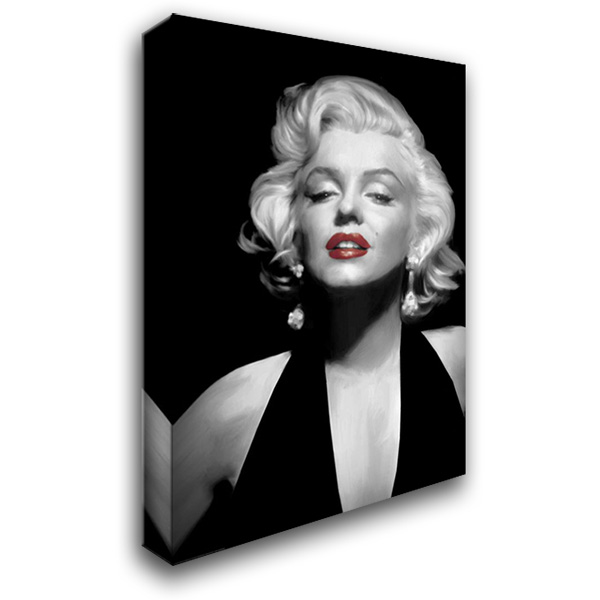 Halter Top Marilyn Red Lips 28x40 Gallery Wrapped Stretched Canvas Art by Consani, Chris
