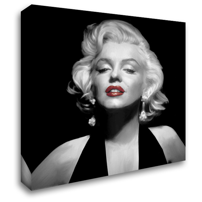 Halter Top Marilyn Red Lips 28x28 Gallery Wrapped Stretched Canvas Art by Consani, Chris