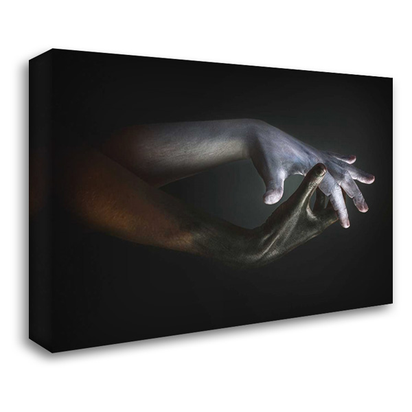 Hands 38x28 Gallery Wrapped Stretched Canvas Art by Van Laar, Sander