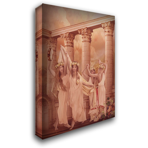Dionysia Festival 28x40 Gallery Wrapped Stretched Canvas Art by Babette