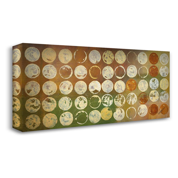 Disk A Licious 40x21 Gallery Wrapped Stretched Canvas Art by Kikani, Umang