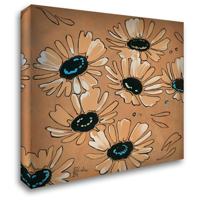 Happy daisies I 28x28 Gallery Wrapped Stretched Canvas Art by Blake B