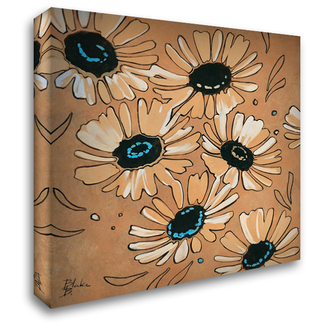 Happy daisies II 28x28 Gallery Wrapped Stretched Canvas Art by Blake B
