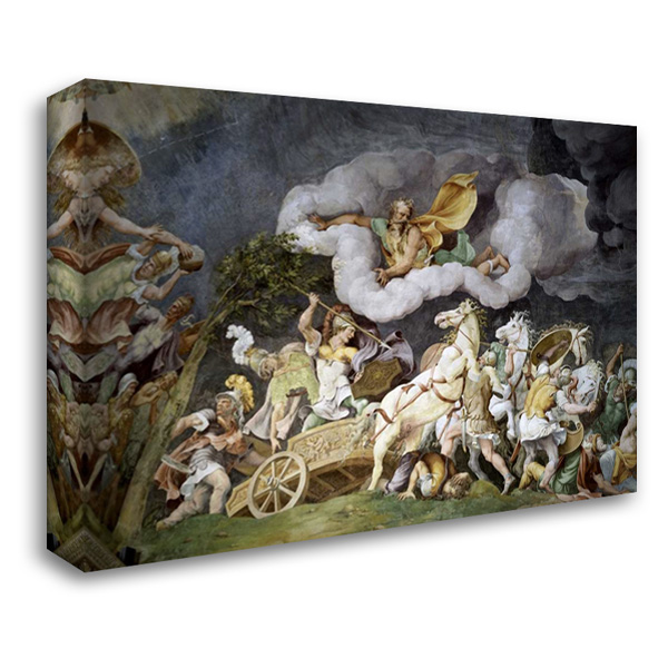 Diomede Uccide Tideo 40x28 Gallery Wrapped Stretched Canvas Art by Romano, Giulio
