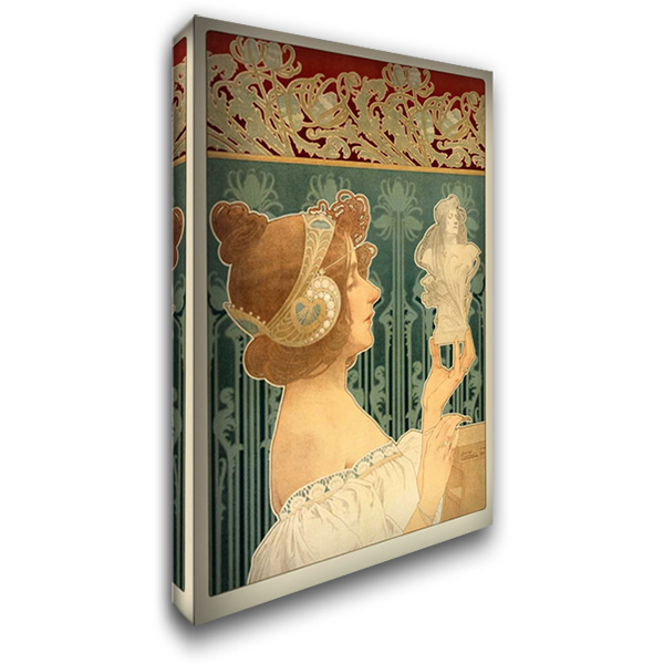 Woman Sculpting 27x40 Gallery Wrapped Stretched Canvas Art by Livemont, Privat