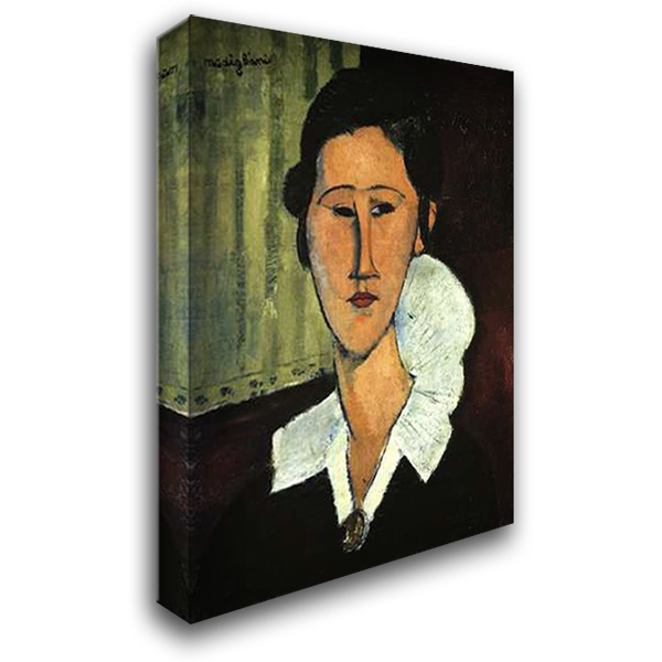 Hanka Zborowska 28x40 Gallery Wrapped Stretched Canvas Art by Modigliani, Amedeo