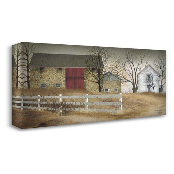 Old Stone Barn 40x23 Gallery Wrapped Stretched Canvas Art by Jacobs, Billy