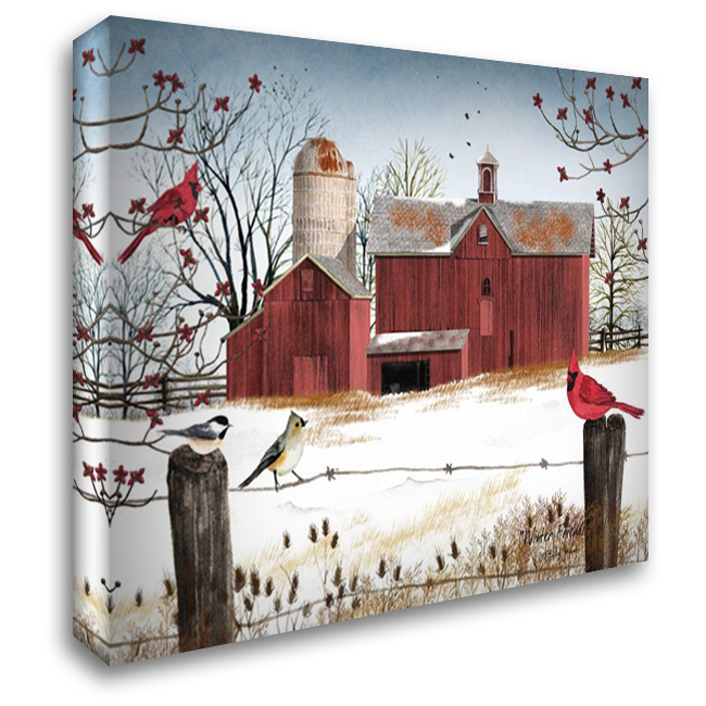 Winter Friends 37x28 Gallery Wrapped Stretched Canvas Art by Jacobs, Billy