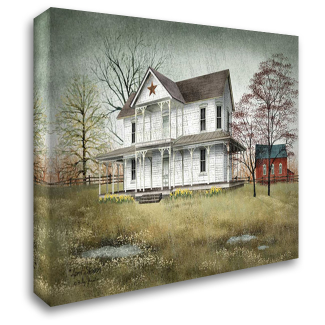 April Showers 37x28 Gallery Wrapped Stretched Canvas Art by Jacobs, Billy