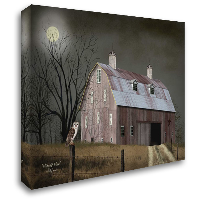 Midnight Moon 37x28 Gallery Wrapped Stretched Canvas Art by Jacobs, Billy