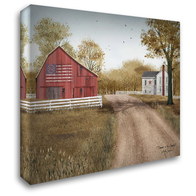 Summer in the Country 37x28 Gallery Wrapped Stretched Canvas Art by Jacobs, Billy