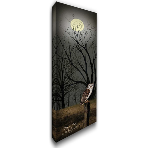 Barn Owl 16x40 Gallery Wrapped Stretched Canvas Art by Jacobs, Billy