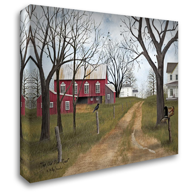 The Old Dirt Road 37x28 Gallery Wrapped Stretched Canvas Art by Jacobs, Billy