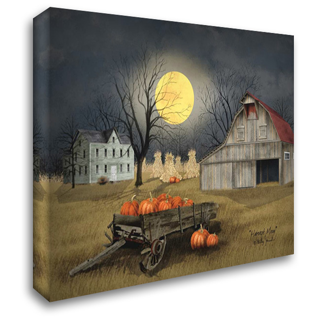 Harvest Moon 37x28 Gallery Wrapped Stretched Canvas Art by Jacobs, Billy