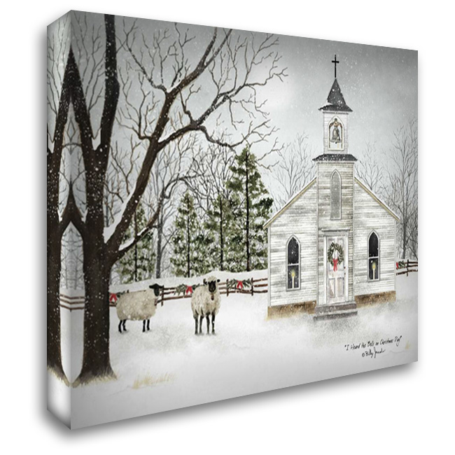 I Heard the Bells on Christmas Day 37x28 Gallery Wrapped Stretched Canvas Art by Jacobs, Billy