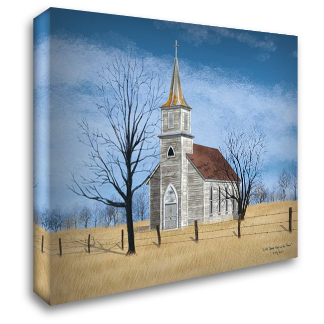 Little Church on the Prairie 37x28 Gallery Wrapped Stretched Canvas Art by Jacobs, Billy
