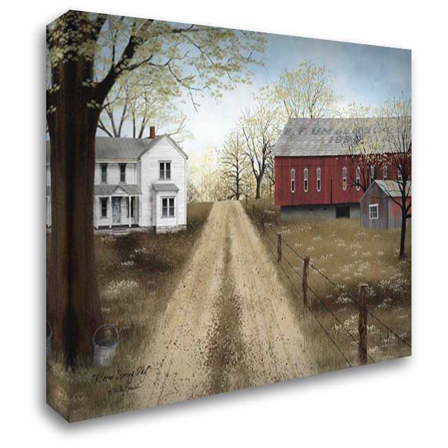 Warm Spring Day 37x28 Gallery Wrapped Stretched Canvas Art by Jacobs, Billy