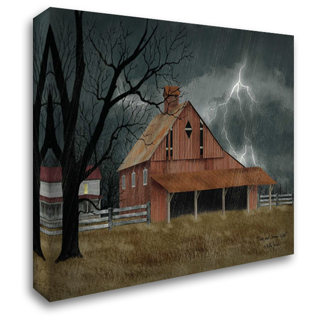 Dark and Stormy Night 37x28 Gallery Wrapped Stretched Canvas Art by Jacobs, Billy