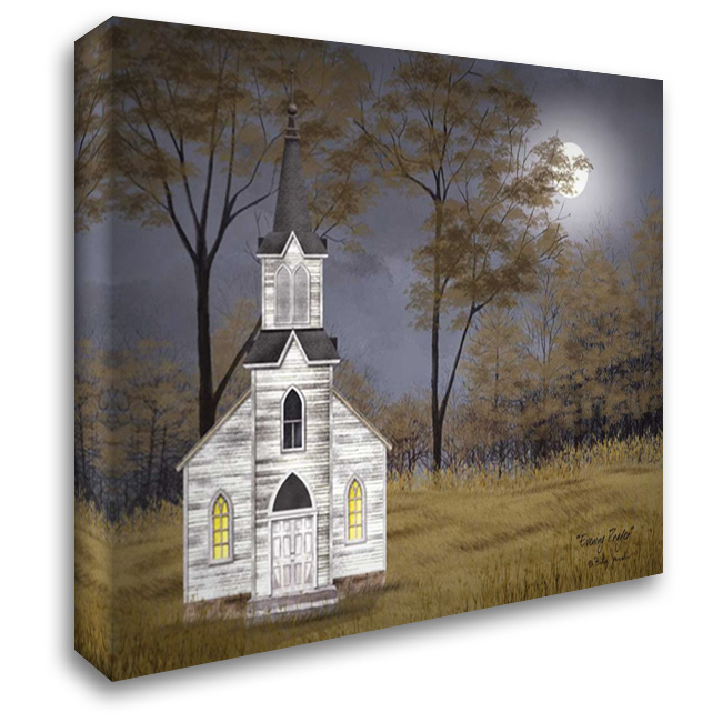 Evening Prayer 37x28 Gallery Wrapped Stretched Canvas Art by Jacobs, Billy