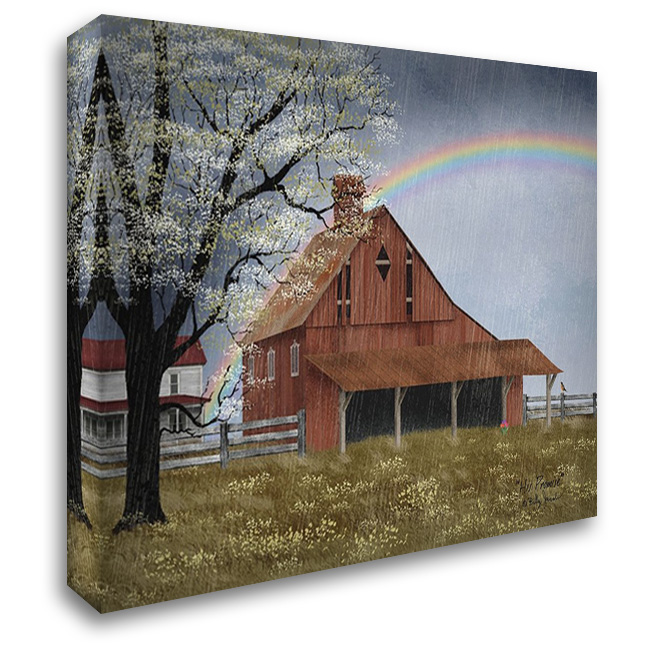 His Promise 37x28 Gallery Wrapped Stretched Canvas Art by Jacobs, Billy
