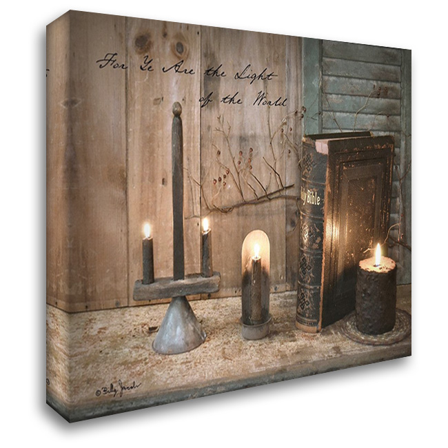 For Ye are the Light 37x28 Gallery Wrapped Stretched Canvas Art by Jacobs, Billy