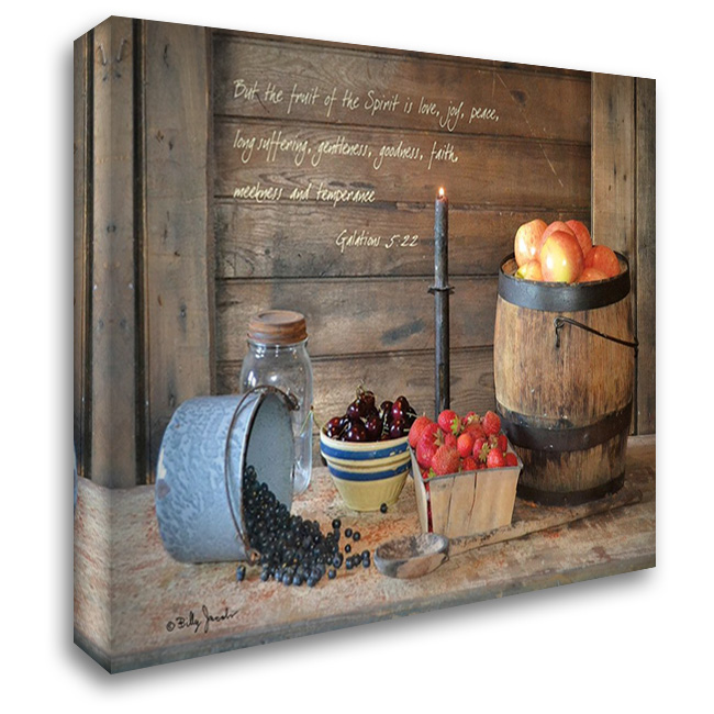 Fruit of the Spirit 37x28 Gallery Wrapped Stretched Canvas Art by Jacobs, Billy