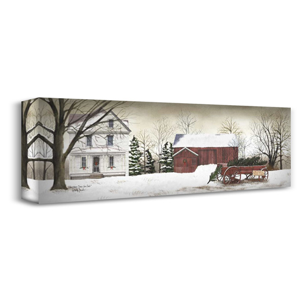 Christmas Trees for Sale 40x16 Gallery Wrapped Stretched Canvas Art by Jacobs, Billy