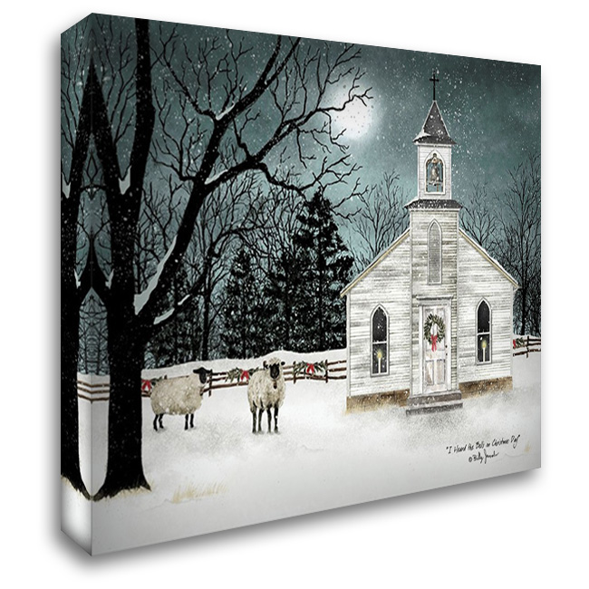 I Heard the Bells on Christmas Day - Darker Sky 37x28 Gallery Wrapped Stretched Canvas Art by Jacobs, Billy