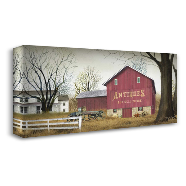 Antique Barn 40x23 Gallery Wrapped Stretched Canvas Art by Jacobs, Billy
