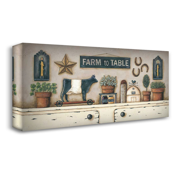 Farm to Table 40x22 Gallery Wrapped Stretched Canvas Art by Atkins, Donna