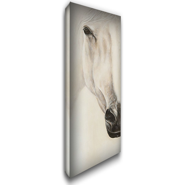 Half Portrait of a Peaceful Horse 16x40 Gallery Wrapped Stretched Canvas Art by Atelier B Art Studio