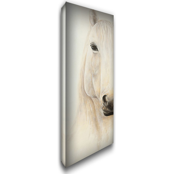 Half Portrait of a Smiling Horse 16x40 Gallery Wrapped Stretched Canvas Art by Atelier B Art Studio