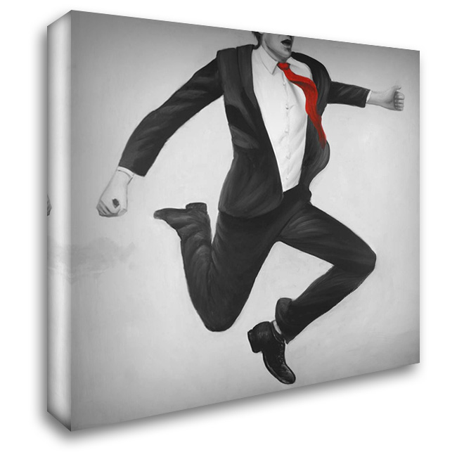 Happy Classic Man 28x28 Gallery Wrapped Stretched Canvas Art by Atelier B Art Studio